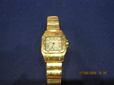 Reloj cartier de mujer de oro